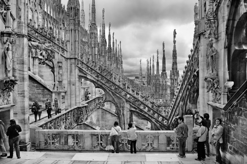 Milan Cathedral/ Duomo di Milano, Milan, Italy It looks like we're in another world. Duomo di Milano - Milan Cathedral Italy : Black and White Photography-260