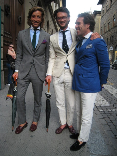 suitsandboots:  When I went to Florence I half expected every other dude to be dressed something like this. The Internet has ruined my expectations in more ways than this one…