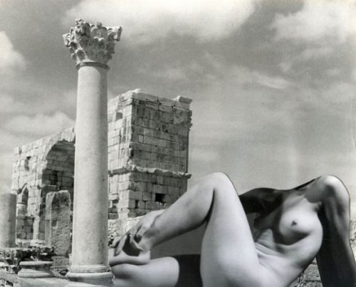 Antique nude, Volubilis ruins in Morocco,1936 by Pierre Boucher from piasa