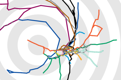 the6thmyth:  'A developer named Tom Carden has built a London Tube map that organises the underground based on how long it'd take you to travel to a particular station. To use it, head to Carden's website and either select a station from the drop-down menu or click one on the map, then watch reality distort around you. The topography will twist to reflect the time it'd take to reach a given destination, which is also marked by concentric circles around the station that you've chosen.' via @WiredUK