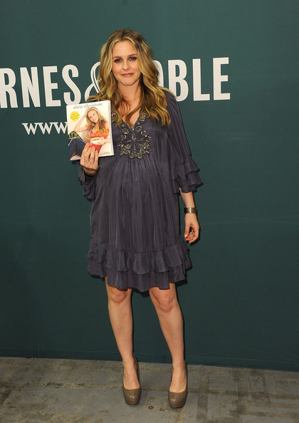 "Pregnant Alicia Silverstone was in LA for a signing of her book; ""The Kind Diet"" (which also happens to be a New York Times Bestseller!) This book came out awhile ago and has some really great, environmentally friendly recipes. It's not preachy and I think it's great for anyone dabbling in Vegan/Vegetarian lifestyle. Alicia is glowing! Looking great."