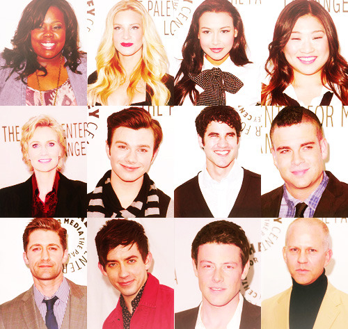 Glee cast at the PaleyFest 2011