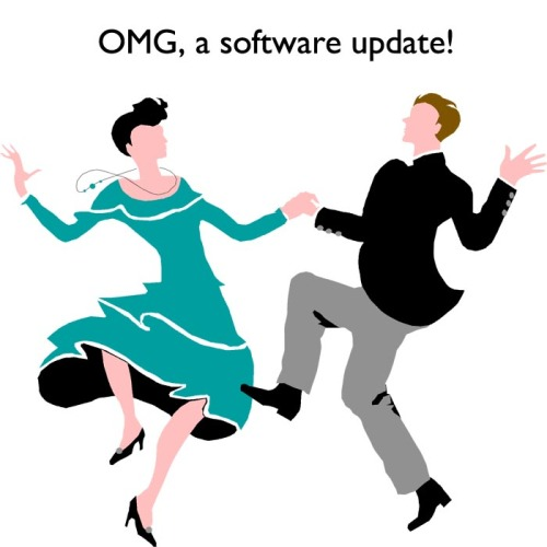 OMG, a software update!