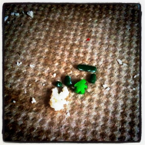 Remnants of a St. Patrick's Day treat.