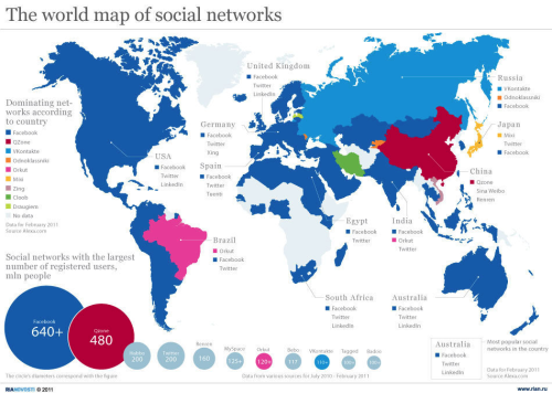 The world map of social networks! Surprise, surprise—Facebook is still #winning…