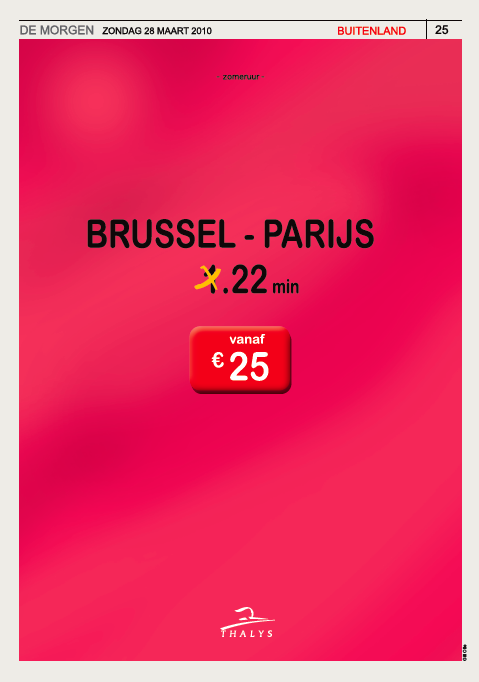 Toptopical Thalys dag : zomeruur