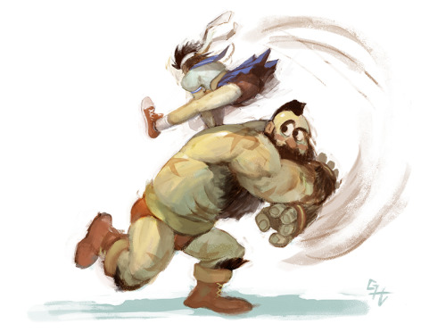 Sakura and Zangief by GH Graphics
