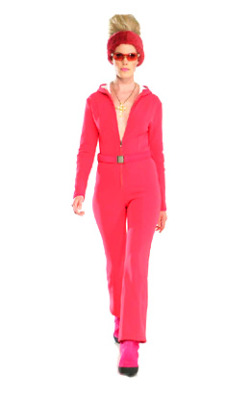 "Pretty in PinkM. Miller loves color….""Cat"" bonded 4-way stretch ski suit"