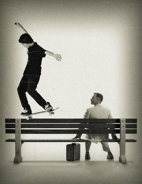 soypatinetero:  Sean Malto & Forest Gump .. lol  Follow me for more skate stuff dude ..