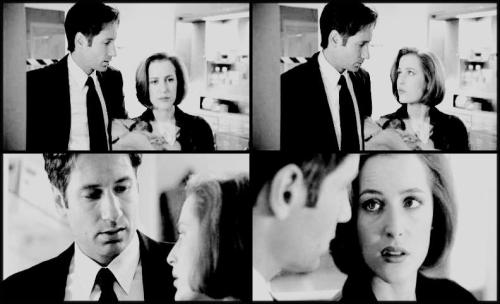 needglam:   Mulder: I'll stay with you. Scully: I think I'd like to be alone.     I never felt sad about Emily, I thought that whole plot never went anywhere. just  another reason to torture poor Scully.