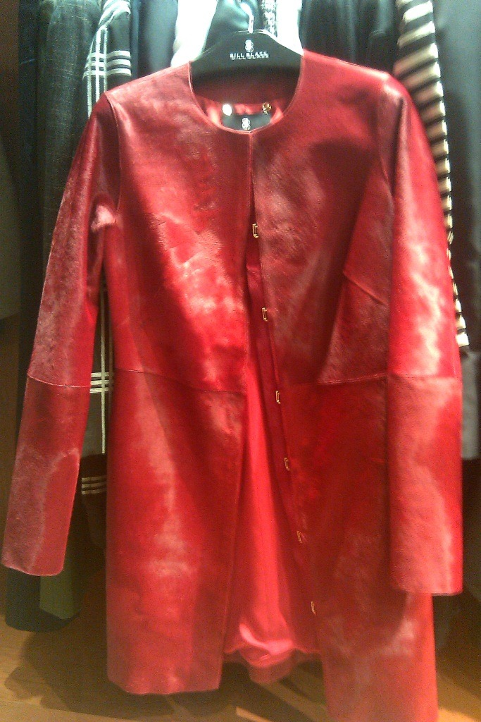 Red Luxe! This haute red mohair jacket from Bill Blass fall 2011 - PWC Press preview