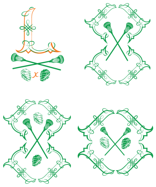 Happy #stpatricksday. I created these Celtic inspired patterns for a freelance project related to the national Irish lacrosse team making it to the 2011 World Lacrosse Championships. The patterns are made up of modified 'I' and 'L' letters. I'm creating a t-shirt design, these patterns won't be used in the finale design but I really liked them. Several people said they'd make great tattoos if you're really into lacrosse haha.