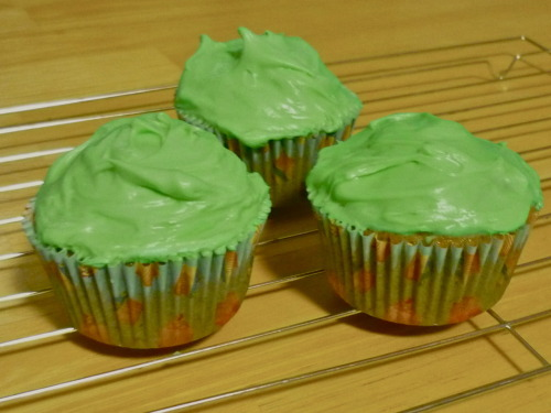 My St. Patrick's Day HealthyCakes: Zucchini Cupcakes with Green Cream Cheese Frosting