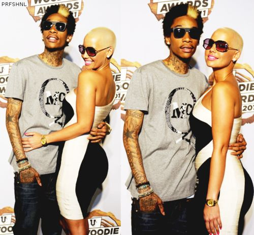 wiz khalifa tattoos of amber rose name. Wiz khalifa shocked the world