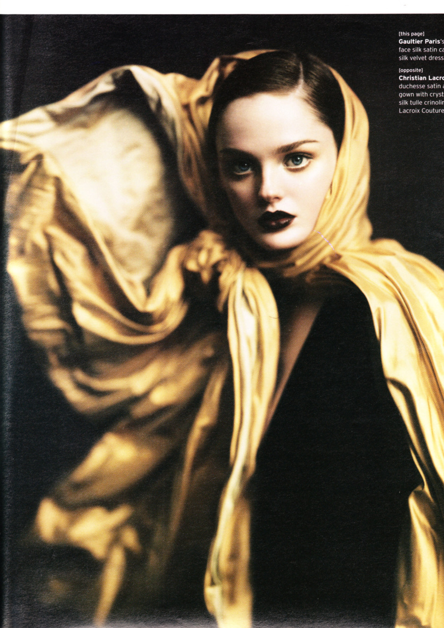 Lisa Cant, Heather Marks & Caroline Trentini photographed by Paolo Roversi - W Magazine: October 2004 - Ladies in Waiting
