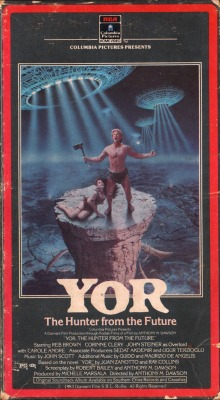 vhscoverjunkie:  YOR, the Hunter from the Future (1983)