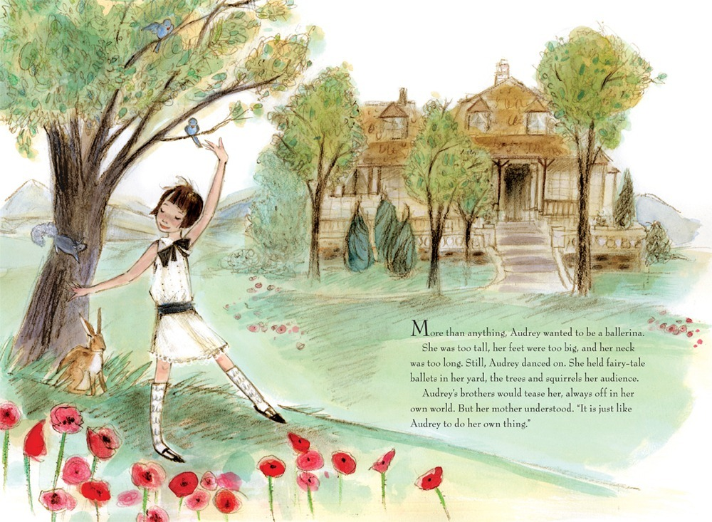 -daydream-believer-:  From Just Being Audrey by Margaret Cardillo and illustrated by Julia Denos.