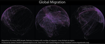 Global Migration Maps (2000) via Spatial Analysis