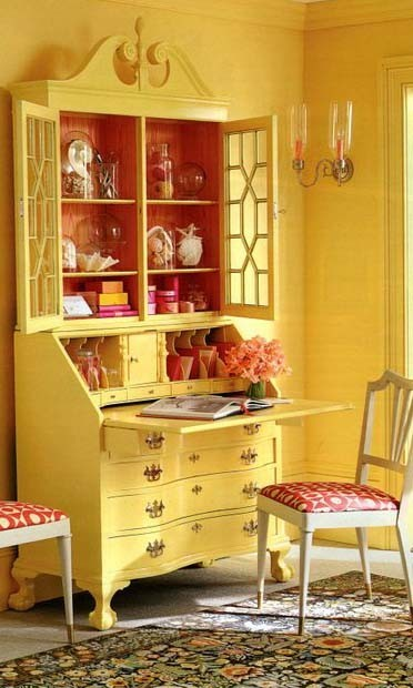 musicchick48:  love the yellow secretary, and the red on the chairs is great.