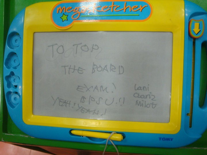 "what is your goal?  ""to top the board exam""  sana magkatotoo po God :)"