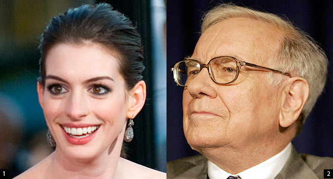 "theatlantic:  Does Anne Hathaway News Drive Berkshire Hathaway Stock?    A couple weeks ago, Huffington Post blogger Dan Mervish noted a funny trend: when Anne Hathaway was in the news, Warren Buffett's Berkshire Hathaway's shares went up. He pointed to six dates going back to 2008 to show the correlation. Mervish then suggested a mechanism to explain the trend: ""automated, robotic trading programming are picking up the same chatter on the Internet about 'Hathaway' as the IMDb's StarMeter, and they're applying it to the stock market."" The idea seems ridiculous. But the more I thought about the strange behavior of algorithmic trading systems and the news that Twitter sentiment analysis could be used by stock market analysts and the fact that many computer programs are simply looking for tradeable correlations, I really started to wonder if Mervish's theory was plausible. I called up John Bates, a former Cambridge computer scientist whose company Progress Software works with hedge funds and others to help them find new algorithmic strategies. I asked, ""Is this at all possible?"" And I was surprised that he answered, roughly, ""Maybe?""  Read more at The Atlantic  Capitalism and Schizophrenia. Perhaps if, in the future, more and more automated trading systems implement such strategies, such correlations will begin to have greater significance. As absurd as it sounds, when we think about it, these robotic behaviors don't seem that far out from that of humans as we think (or like to believe) they are. Isn't the Hathaway association very similar to the current behavior of Chinese consumers in panic about radiation? They buy up potassium iodide tablets, which are used to treat and protect from the effects of radiation. Then a rumor goes out that table salt contains Iodine. At some point it takes on a life of its own, and people begin hoarding any kind salt available, then soy sauce, and then chicken bouillon cubes. Marshall McLuhan had described the media as extension of ourselves. The computer is an extension of our thinking. Perhaps the web, especially the social media, includes the extension of our unconscious, and these algorithms pick up on something similar to the unrestrained association of objects that we pick up in dreams."