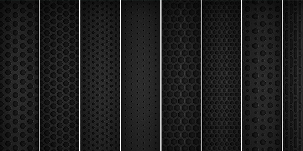 "8 Seamless ""Dark Metal Grid"" Patterns By Orman Clark Download"