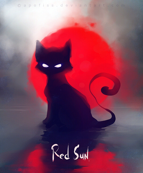 """red sun"" by Apofiss"