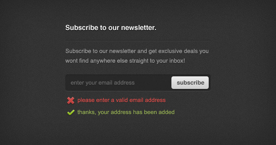 Newsletter Sign-up Form (PSD) By Orman Clark Download