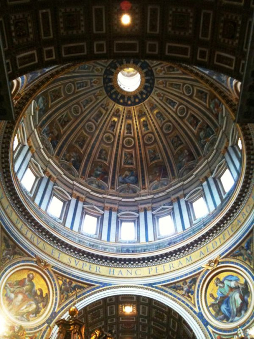 Dome at St. Peter's Basilica.