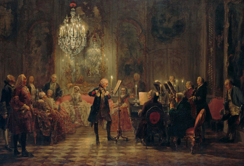 Adolph von Menzel (1815-1905)The Flute ConcertOil on canvas