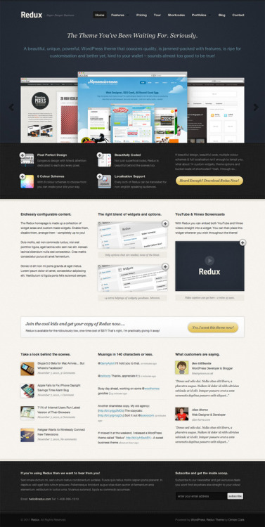 Business Website Template Design (PSD) By Orman Clark Download