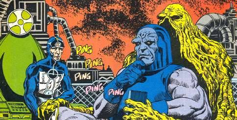 "Swamp Thing #62 (1987). Art by Rick Veitch. ""Wait a minute,"" thinks Darkseid. ""This isn't a real couch!"""