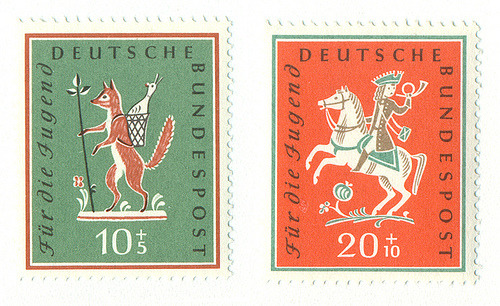 loveliness:  Germany Stamps (by Cuddlefish Press)