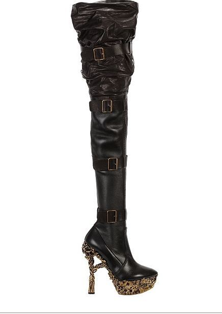 Alexander McQueen Floral Engraved Boots I'm pretty sure there was another name to this boot and that is the name of the artist who's style inspired AMQ to design these shoes. Please let me know if you know!