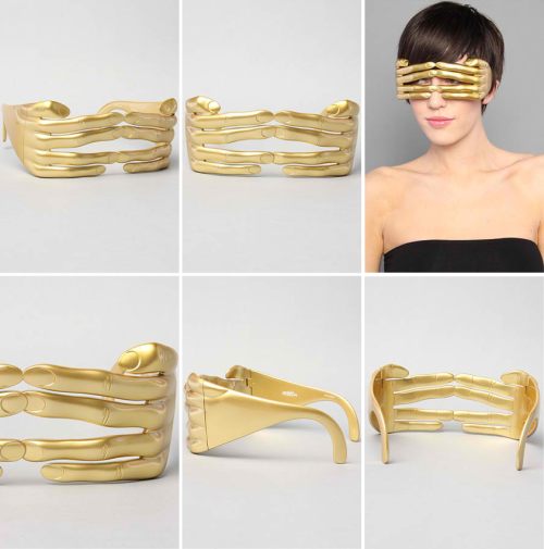 Jeremy Scott for Linda Farrow Sunglasses — Hands  These are a cool idea