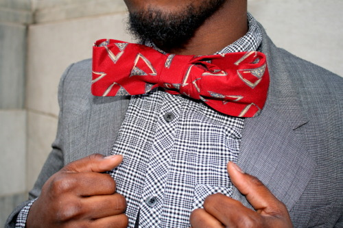 "Photographed by Susy the Stylist ""I created a Bowtie with a regular long tie"""