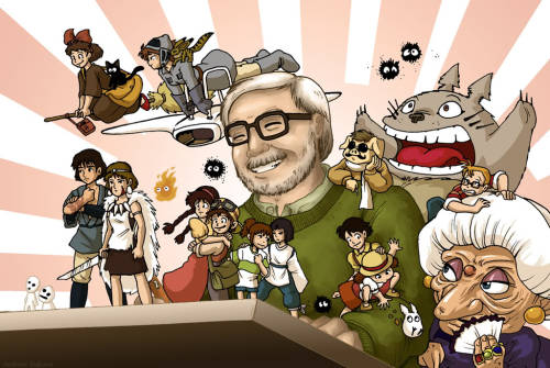 Miyazaki and his creations Desktop