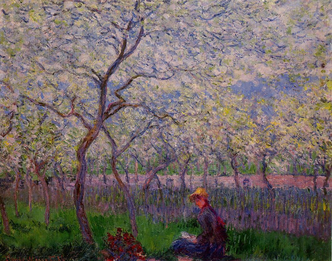 1886 Claude Monet (French 1840-1926) ~ An Orchard in Spring