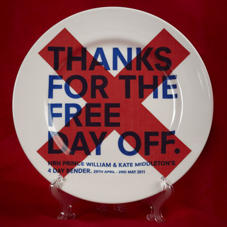 fun! lets do more unofficial commemorative china sets! ialwayswondered:  London communications and creative agency KK Outlet have commissioned seven designers to create a collection of unofficial commemorative china for the wedding of Prince William and Kate Middleton this April.