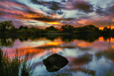 landscapelifescape:  Sacramento River, California, USA November Skies by Babyc8kes