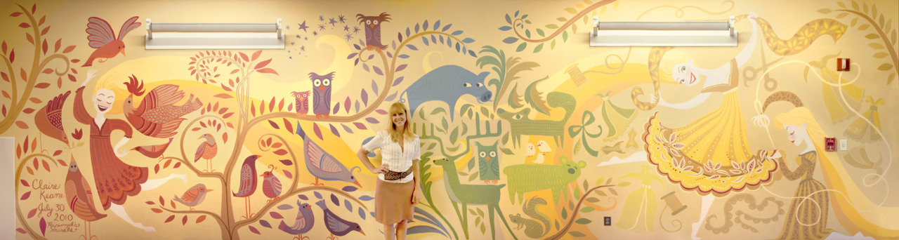 claireonacloud:  Rapunzel's mural I painted at Disney Animation