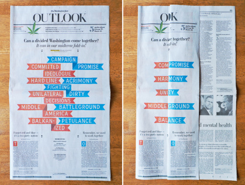 michalva:  The Washington Post Outlook fold  Love this.