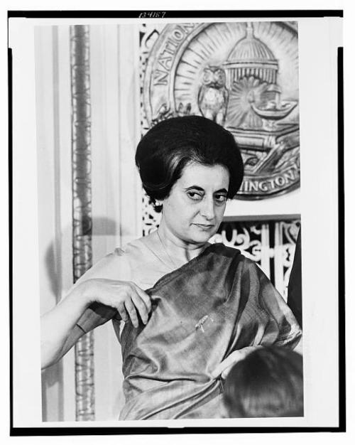 Prime Minister Indira Gandhi of India at the National Press Club, Washington, D.C. 1966