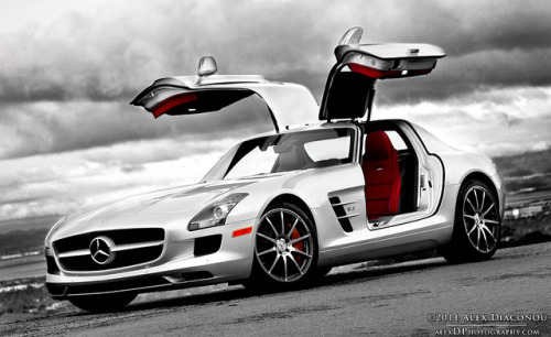 Mercedes SLS AMG…evil skies.  Wallpapers from alexDPhotography:   High-res Wallpapers