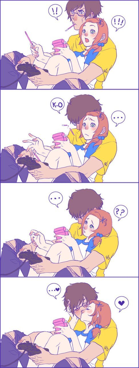 K.O. This is the cutest ever!  It reminds me of me and my boyfriend.  <3