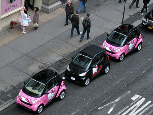 Hello Kitty Smart Cars at Sephora SoHo