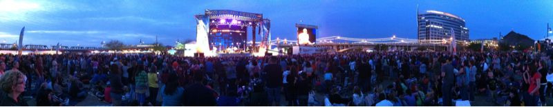 A wide panorama of Arizona CityFest - Mat Kearney set.