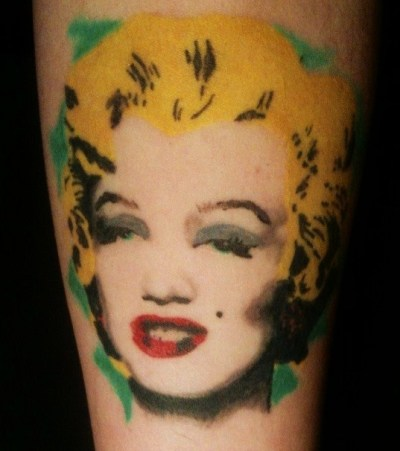 My all time favorite Andy Warhol painting on my inner arm. Done by Mathias at Pride and Glory Tattoo, in Annapolis MD