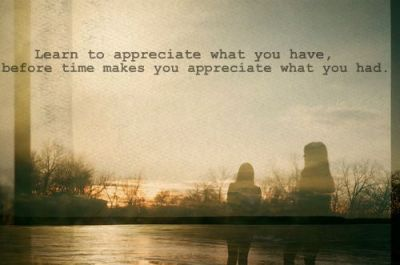 it's all about appreciation :)