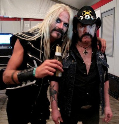 assviolatr:  Snowy Shaw and Lemmy!